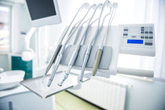 Different dental instruments  Royalty Free Stock Photos