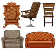 Different design of chairs Stock Photos