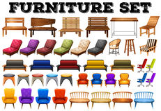 Different design of modern furniture Royalty Free Stock Photos