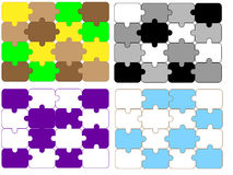 Different design of puzzle background Royalty Free Stock Photo