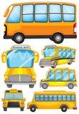 Different design of school bus Stock Image