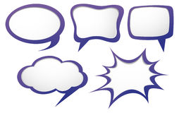 Different design of speech bubbles. Illustration stock illustration