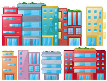 Different designs of buildings Royalty Free Stock Images