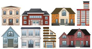 Different designs of buildings Royalty Free Stock Photo