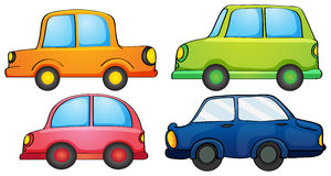 Different designs and colors of a transportation Stock Photography