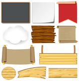 Different Designs For Signs And Boards Stock Images