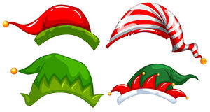 Different designs of jester hat Royalty Free Stock Photos