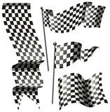 Different designs of racing flags. Illustration Vector Illustration