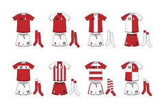 Different Designs of Soccer Kits Stock Image