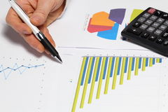 Different diagrams Royalty Free Stock Image