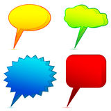 Different dialogue bubbles Stock Photo