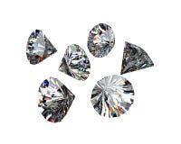Different diamonds Royalty Free Stock Photo