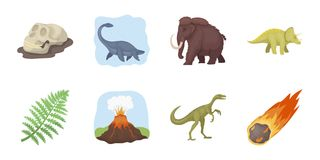 Different dinosaurs icons in set collection for design.   Royalty Free Stock Image