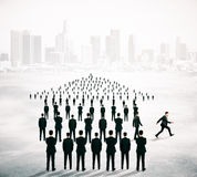 Different direction concept businesspeople Royalty Free Stock Photo