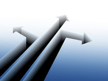 Different Directions. 3D Arrows Showing Different Directions Stock Images