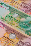 Different Dirham  banknotes from Emirates Royalty Free Stock Photo