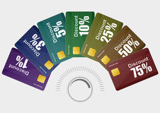 Different discount cards Stock Photo
