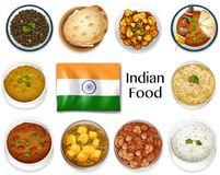 Different dish of Indian food Stock Photo