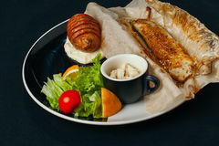 Different dishes with sea food and fish are basis of a healthy diet Stock Photography