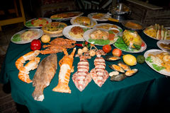 Different dishes on the table. Thailand. stock photography