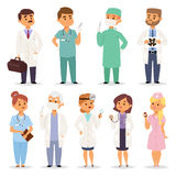Different doctors charactsers vector set. Stock Photography