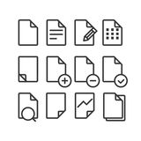 Different documents icons set with rounded corners Stock Image