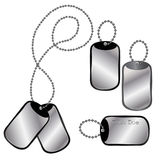 Different dog tags Stock Images