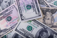 Different dollar banknotes Stock Photo
