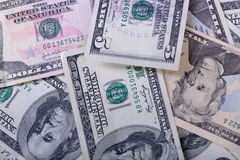 Different dollar banknotes Royalty Free Stock Image