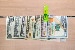 Different dollar bills Royalty Free Stock Images