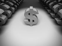 Different Dollar Currency Sign In The Dark Stock Photography