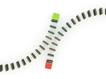 Different domino concept Royalty Free Stock Photos