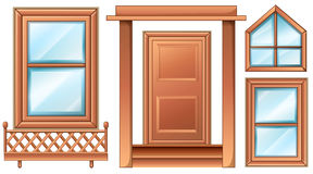Different door designs Stock Images