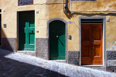Different doors in the Italian city Royalty Free Stock Photo