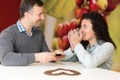 Different doses of coffee. Heart stock images