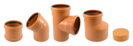 Different Drain Pipe Royalty Free Stock Photo