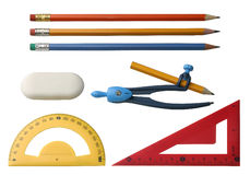 Different drawing tools Stock Image