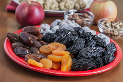 Different dried fruits Stock Images