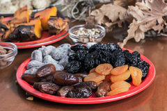 Different dried fruits Stock Photo