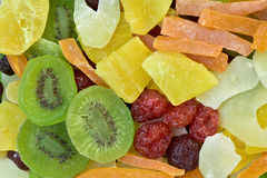 Different dried fruits background Royalty Free Stock Photo
