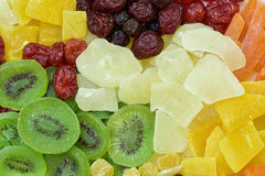 Different dried fruits background Stock Photography
