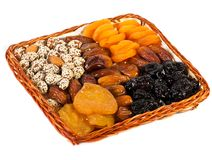 Different dried fruits Stock Image