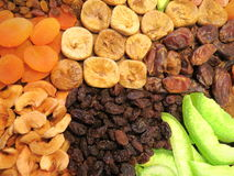 Different dried fruits pattern Stock Photography