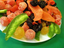 Different dried fruits pattern Stock Photo