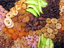 Different dried fruits pattern royalty free stock photography
