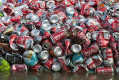 Different drinks cans-2 Stock Images