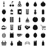 Different drinks icons set, simple style. Different drinks icons set. Simple style of 36 different drinks vector icons for web isolated on white background Royalty Free Stock Photo