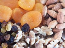 Different dry fruits. Stock Photo