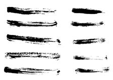 Different dry vector brush strokes Stock Images