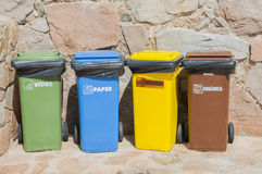 Different dumpsters Royalty Free Stock Photography